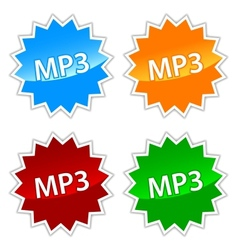 Mp3 icons set vector