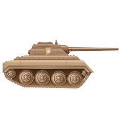 A brown military tank vector