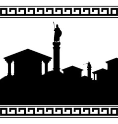 Silhouette of ancient city vector