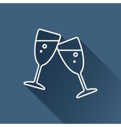Stemware icon eps10 vector