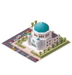 isometric synagogue vector image