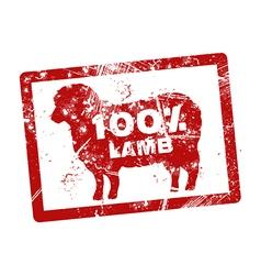 lamb gunge stamp vector image