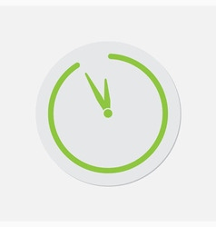 Simple green icon - last minute clock vector