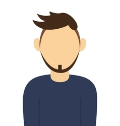 Faceless man with beard portrait icon vector