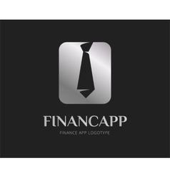 Abstract finance app logo template for vector image