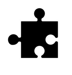 Black silhouette element game in the puzzle vector