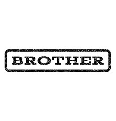 Brother watermark stamp vector