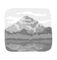Canadian waterfall canada single icon in vector