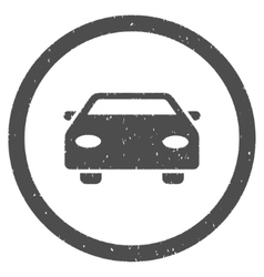 Car icon rubber stamp vector