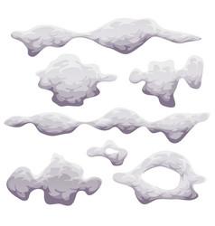 cartoon smoke fog and clouds set vector image