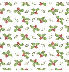 Christmas mistletoe seamless vector
