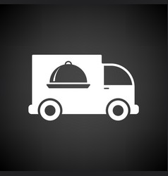 Delivering car icon vector