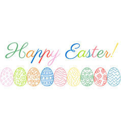 Easter eggs border vector