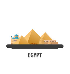 egypt travel location vacation or trip and vector image vector image