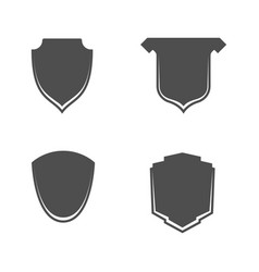 Empty shields icons with place for text vector