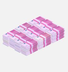 euros money stack vector image