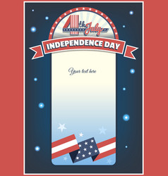 fourth of july card vector image vector image