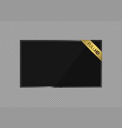 full hd screen vector image