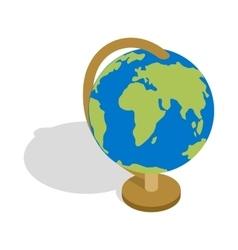 Globe icon isometric 3d style vector