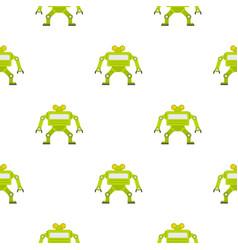 Green automatic mechanism pattern seamless vector