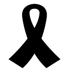 Icon mourning ribbon vector