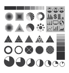infographic icons element charts and graphs vector image vector image