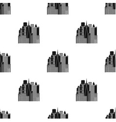 Megalopolis icon in black style isolated on white vector