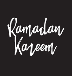 ramadan kareem text design vector image