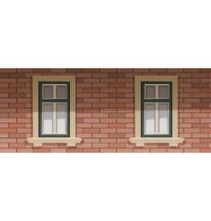 Retro Building Facade vector image vector image