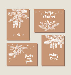 set of christmas cards15 vector image vector image