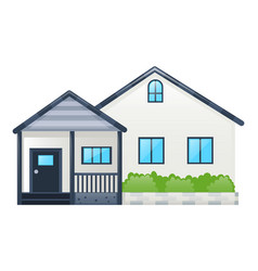 single house with gray roof vector image vector image