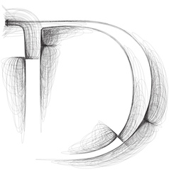 Sketch font letter d vector