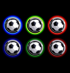 soccer buttons vector image vector image