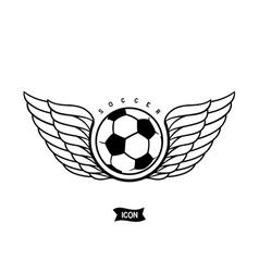 Soccer heraldic icon vector image vector image