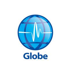 template logo design globe vector image