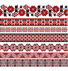 Traditional ukrainian borders in seamless pattern vector