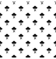 Vietnamese hat pattern simple style vector