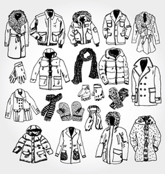 winter clothes vector image vector image