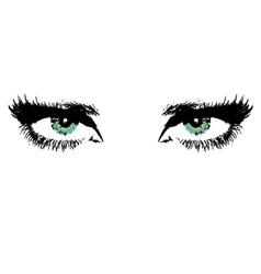 womens eyes vector image vector image