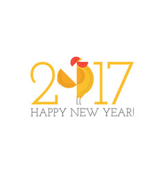 Year of rooster chinese new year design graphic vector