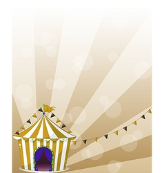 A circus tent at the carnival vector