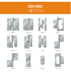 Door hinge  set classic and industrial vector