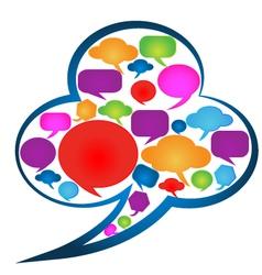 Speech bubbles social media logo vector image