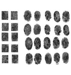 30 Fingerprints vector image