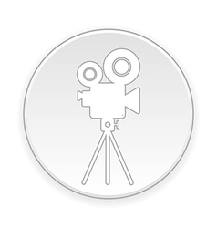 Video camera button vector