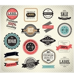 Collection of premium quality labels vector