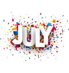 July sign vector