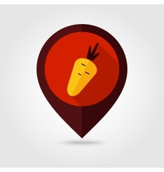 Carrot flat mapping pin icon vector