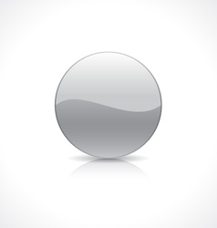 Round silver button vector