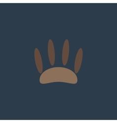 Animal footprint flat icon vector image